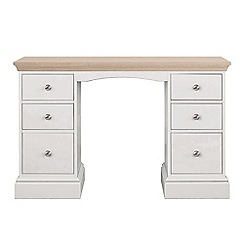 Corndell - Lime oak and grey 'Oxford' dressing table