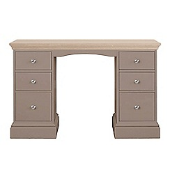Corndell - Lime oak and dark grey 'Oxford' dressing table