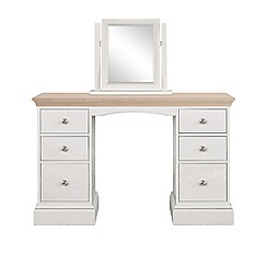 Corndell - Lime oak and grey 'Oxford' dressing table with mirror