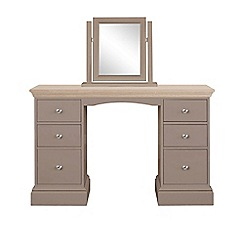 Corndell - Lime oak and dark grey 'Oxford' dressing table with mirror