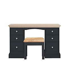Corndell - Lime oak and black 'Oxford' dressing table with stool