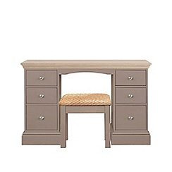 Corndell - Lime oak and dark grey 'Oxford' dressing table with stool