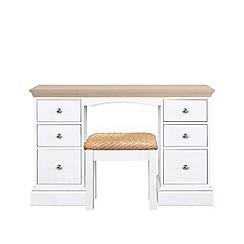 Corndell - Lime oak and white 'Oxford' dressing table with stool