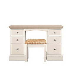 Corndell - Lime oak and cream 'Oxford' dressing table with stool