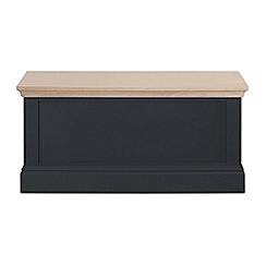 Corndell - Lime oak and black 'Oxford' storage chest