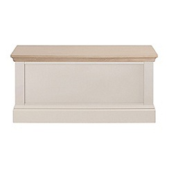 Corndell - Lime oak and cream 'Oxford' storage chest