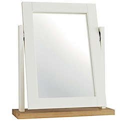 Debenhams - Beech and painted 'Burlington' vanity mirror