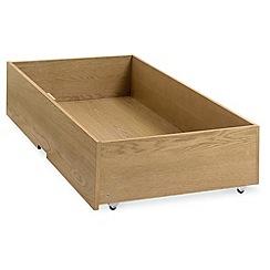 Debenhams - Oak finished 'Burlington' under bed drawer