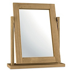 Debenhams - Oak finished 'Burlington' vanity mirror