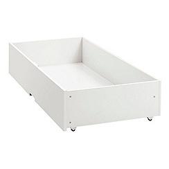 Debenhams - Soft white 'Burlington' under bed drawer