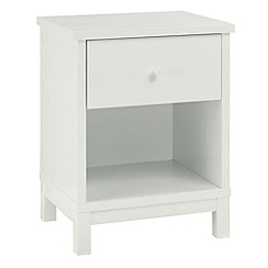 Debenhams - Soft white 'Burlington' bedside cabinet with single drawer