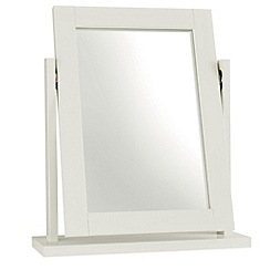 Debenhams - Soft white 'Burlington' vanity mirror