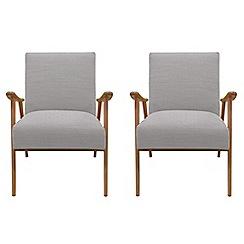 Debenhams - Set of 2 fleck weave 'Kempton' armchairs