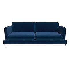 J by Jasper Conran - 3 seater velvet 'Ellsworth' sofa