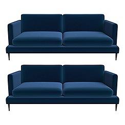 J by Jasper Conran - Set of two 3 seater velvet 'Ellsworth' sofas