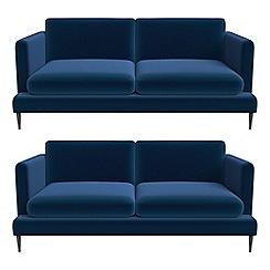 J by Jasper Conran - Set of two 2 seater velvet 'Ellsworth' sofas