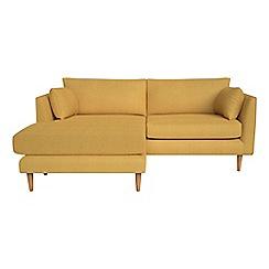 RJR.John Rocha - Tweedy weave 'Ravello' chaise corner sofa