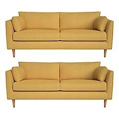 RJR.John Rocha - Set of two 3 seater tweedy weave 'Ravello' sofas