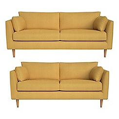 RJR.John Rocha - 3 seater and 2 seater tweedy weave 'Ravello' sofas