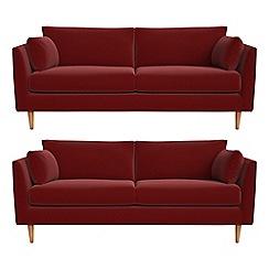RJR.John Rocha - Set of two 3 seater velvet 'Ravello' sofas