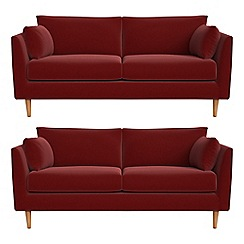 RJR.John Rocha - Set of two 2 seater velvet 'Ravello' sofas