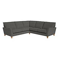 Debenhams - Tweedy weave 'Abbeville' corner sofa