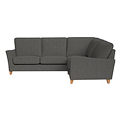 Debenhams - Tweedy weave 'Abbeville' right-hand facing corner sofa end