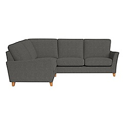 Debenhams - Tweedy weave 'Abbeville' left-hand facing corner sofa end