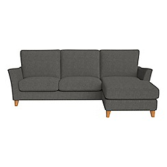Debenhams - Tweedy weave 'Abbeville' right-hand facing chaise corner sofa