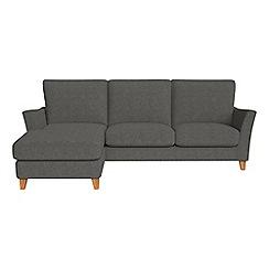 Debenhams - Tweedy weave 'Abbeville' left-hand facing chaise corner sofa