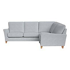 Debenhams - Brushed cotton 'Abbeville' right-hand facing corner sofa end