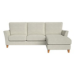 Debenhams - Brushed cotton 'Abbeville' right-hand facing chaise corner sofa