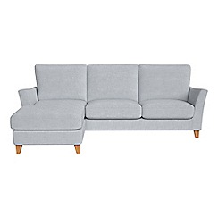 Debenhams - Brushed cotton 'Abbeville' left-hand facing chaise corner sofa