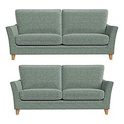Debenhams - 3 seater and 2 seater chenille 'Abbeville' sofas