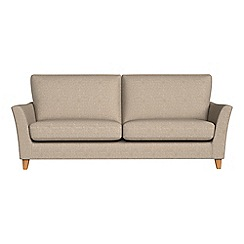 Debenhams - 4 seater textured weave 'Abbeville' sofa
