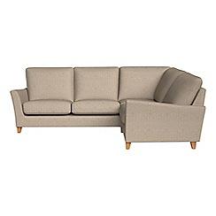 Debenhams - Textured weave 'Abbeville' right-hand facing corner sofa end