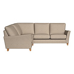 Debenhams - Textured weave 'Abbeville' left-hand facing corner sofa end