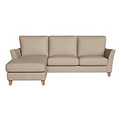 Debenhams - Textured weave 'Abbeville' left-hand facing chaise corner sofa