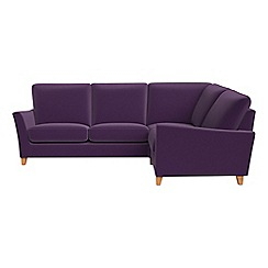Debenhams - Velvet 'Abbeville' right-hand facing corner sofa end