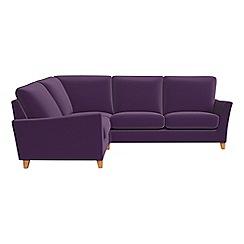 Debenhams - Velvet 'Abbeville' left-hand facing corner sofa end