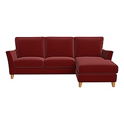 Debenhams   Velvet U0027Abbevilleu0027 Right Hand Facing Chaise Corner Sofa