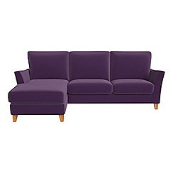 Debenhams - Velvet 'Abbeville' left-hand facing chaise corner sofa