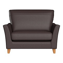 Debenhams - Luxury leather 'Abbeville' loveseat