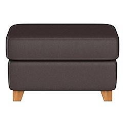 Debenhams - Luxury leather 'Abbeville' footstool