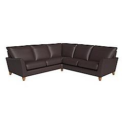 Debenhams - Luxury leather 'Abbeville' corner sofa