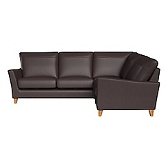Debenhams - Luxury leather 'Abbeville' right-hand facing corner sofa end