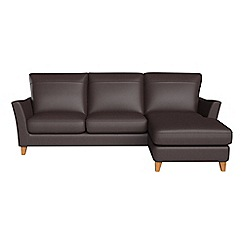 Debenhams - Luxury leather 'Abbeville' right-hand facing chaise corner sofa