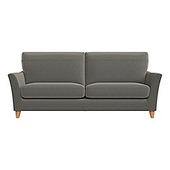 Debenhams - 4 seater natural grain leather 'Abbeville' sofa