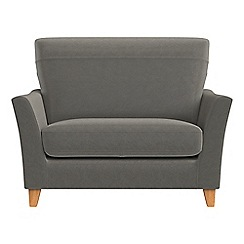 Debenhams - Natural grain leather 'Abbeville' loveseat