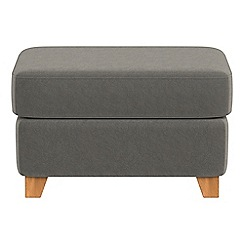 Debenhams - Natural grain leather 'Abbeville' footstool